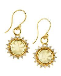 Elizabeth Showers | Metallic Marilyn Drop Earrings | Lyst