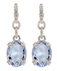 Judith Ripka - Blue Quartz Drop Earrings - Lyst