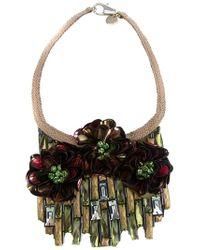 Matthew Williamson - Metallic Flower Necklace - Lyst