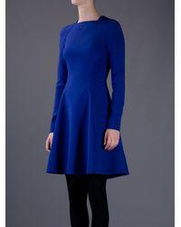 Proenza Schouler   Blue Fitted Aline Dress   Lyst