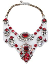Shourouk - Red Necklace - Lyst
