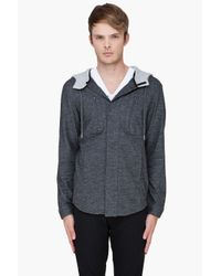 Adidas SLVR | Gray Wool Hoodie for Men | Lyst