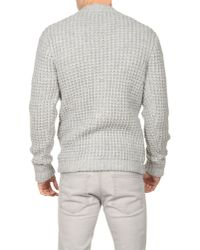 Dolce & Gabbana - Gray Waffle Knit Cardigan for Men - Lyst