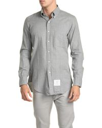 Thom Browne - Gray Long Sleeve Shirt for Men - Lyst