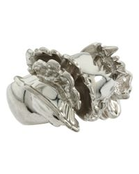 Alexander McQueen | Metallic Skull Cocktail Ring Ottone | Lyst