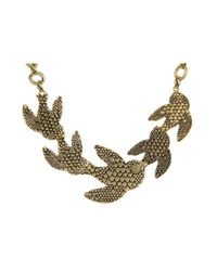 Marc By Marc Jacobs - Metallic Petal To The Metal Flock Necklace - Lyst