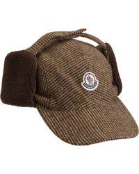 Moncler - Brown Ear Flap Cap for Men - Lyst