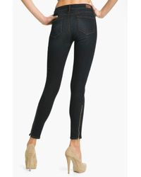 PAIGE   Blue Paige Eve Skinny Ankle Zip Skinny Jeans   Lyst