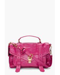 Proenza Schouler | Pink Ps1 Medium Purple Satchel | Lyst