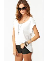 Nasty Gal | White Slashed Skull Tee | Lyst