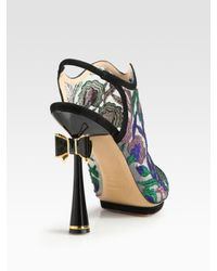 Nicholas Kirkwood | Multicolor Embroidered Open Back Bow Suede Ankle Boots | Lyst