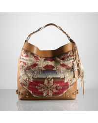 Ralph Lauren Collection - Brown Printed Blanket Hobo - Lyst