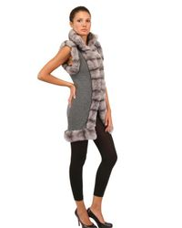 Vicedomini - Gray Rex Rabbit and Cashmere Knit Long Vest - Lyst