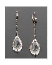 Betsey Johnson - Metallic Crystal Teardrop Earrings - Lyst
