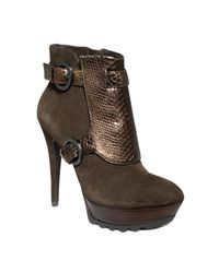 Guess | Brown Risa Booties | Lyst