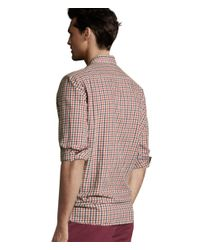 H&M | Red Cotton Shirt for Men | Lyst