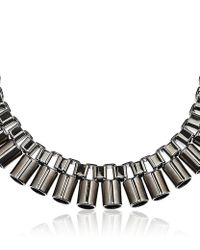 Mawi - Gray Sunray Tube Necklace - Lyst