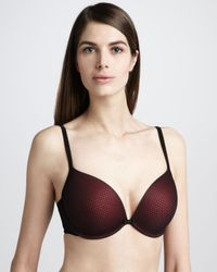 Le Mystere - Plunging Pushup Bra Blackred - Lyst