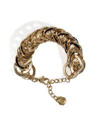 R.j. Graziano - Metallic Goldtoned Circle Linked Bracelet - Lyst