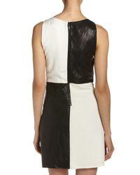 Alice + Olivia - White Colorblock Shift Dress - Lyst