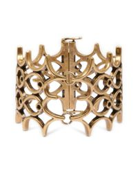 Lucky Brand | Metallic Gold Openwork Bracelet | Lyst