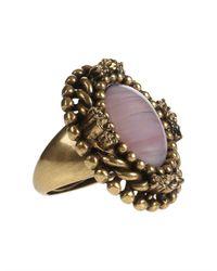 Oscar de la Renta - Pink Cabochon Crystal Ring - Lyst