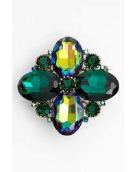 Cara | Green Jewel Brooch | Lyst