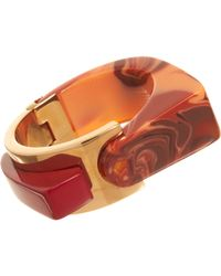 Lanvin | Orange Abstract Deco Large Bracelet | Lyst
