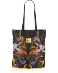 McQ | Multicolor Printed Shell Packaway Shopper | Lyst