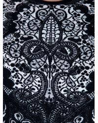 Alexander McQueen | Black Fitted Paisley Dress | Lyst