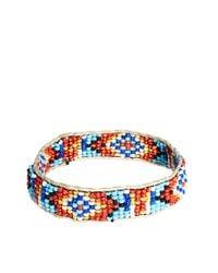 ASOS - Multicolor Asos Aztec Bead and String Bracelet for Men - Lyst