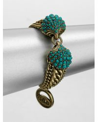Giles & Brother - Blue Circe Turquoise Chain Bracelet - Lyst