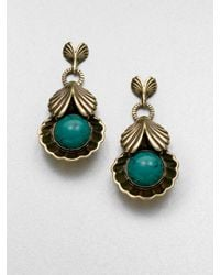 Giles & Brother | Blue Circe Turquoise Drop Earrings | Lyst