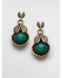Giles & Brother - Blue Circe Turquoise Drop Earrings - Lyst
