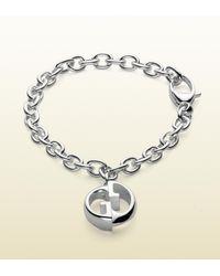 Gucci - Metallic Double G Bracelet for Men - Lyst