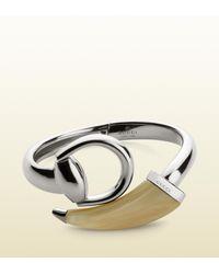 Gucci   Metallic Horsebit Bracelet   Lyst