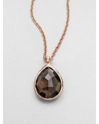 Ippolita - Metallic Smokey Quartz Sterling Silver and 18k Gold Necklace - Lyst