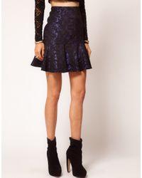 ASOS Collection | Blue Asos Premium Trumpet Mini Skirt | Lyst