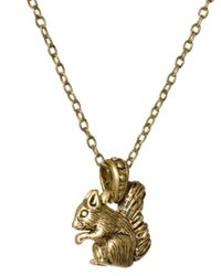 Cath Kidston - Brown Squirrel Necklace - Lyst