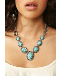 Nasty Gal | Metallic Tucson Turquoise Necklace | Lyst