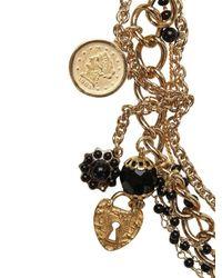 Dolce & Gabbana - Metallic Dancer Pendant with Silk Voile Necklace - Lyst