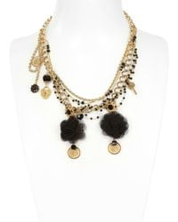 Dolce & Gabbana | Metallic Dancer Pendant with Silk Voile Necklace | Lyst