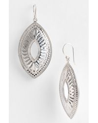 Anna Beck | Metallic Leaf Open Drop Earrings | Lyst