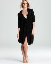 Ash | Black Arlotta Cashmere Short Wrap Robe with Hood | Lyst