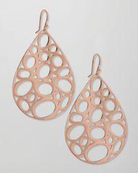 Ippolita | Metallic Rose Gold Digital Lace Earrings | Lyst