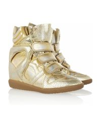 Isabel Marant | Bird Metallic Leather Sneakers | Lyst