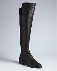 Michael Kors | Black Michael Stretch Tall Boots Bromley | Lyst