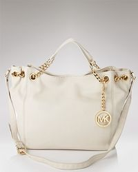 Michael Kors | White Michael Jet Set Gathered Tote | Lyst