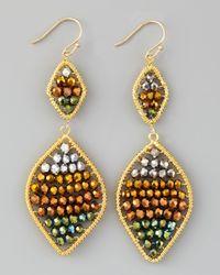 Nakamol | Multicolor Beaded Drop Earrings | Lyst