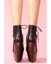 Nasty Gal - Black Bandit Cutout Boot - Lyst